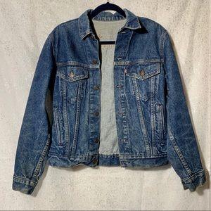 Vintage Levi's jacket with custom cat patch detail